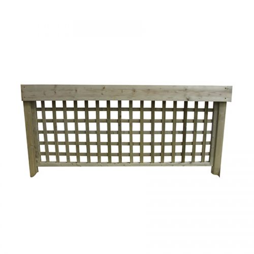 Wooden Trellis Back Panel