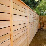 Contemporary Wooden Fence Panel
