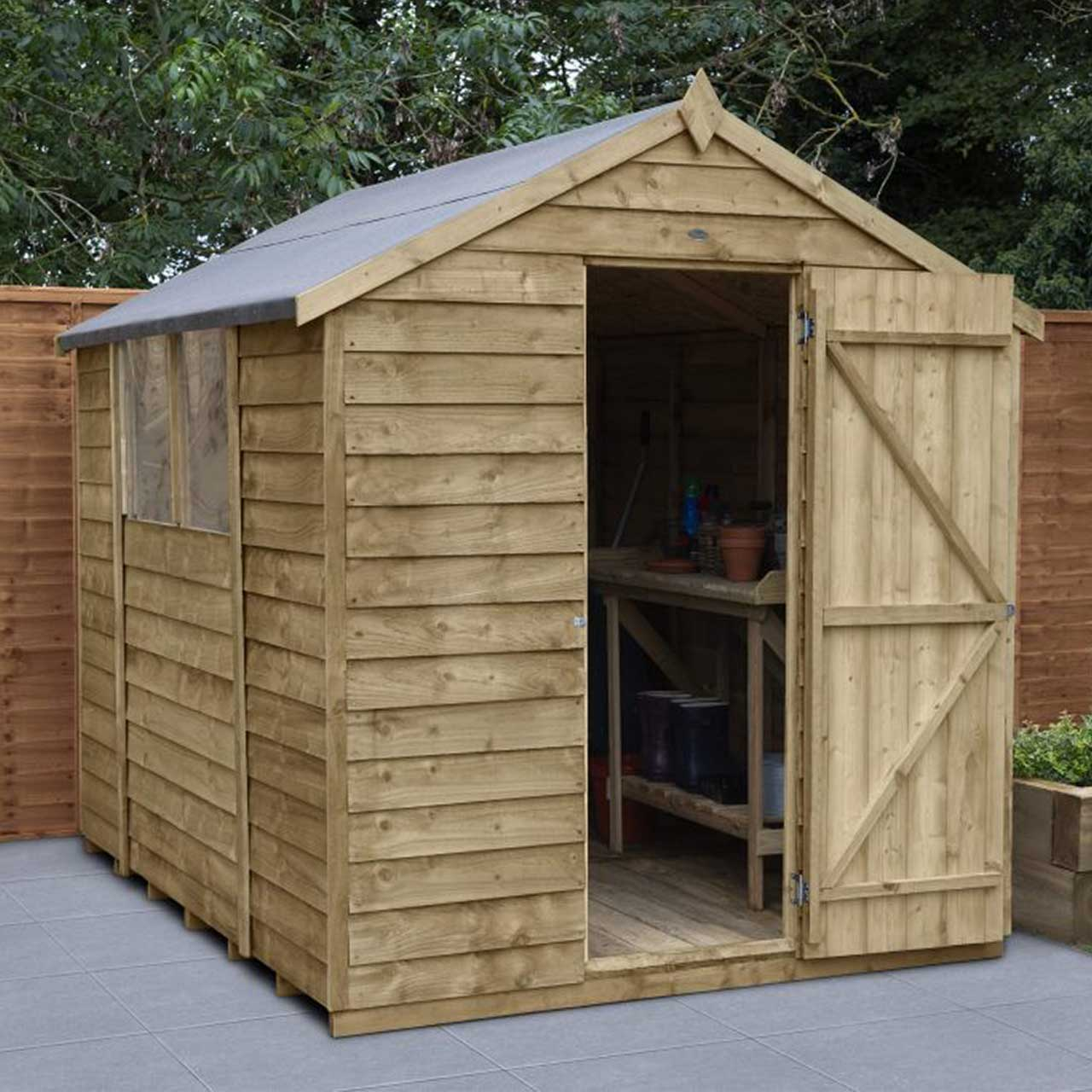Overlap Pressure Treated 8×6 Apex Shed