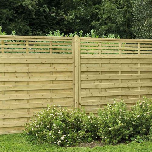 Pressure Treated Decorative Kyoto Fence Panel