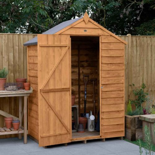 Overlap Dip Treated 4×3 Apex Shed – No Window