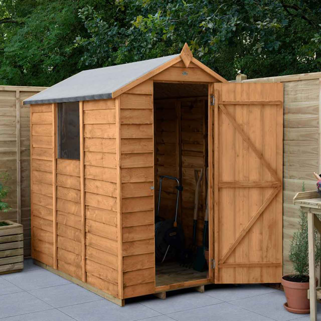 Overlap Dip Treated 6×4 Apex Shed
