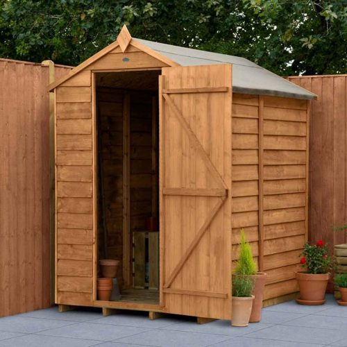 Overlap Dip Treated 6×4 Apex Shed – No Window