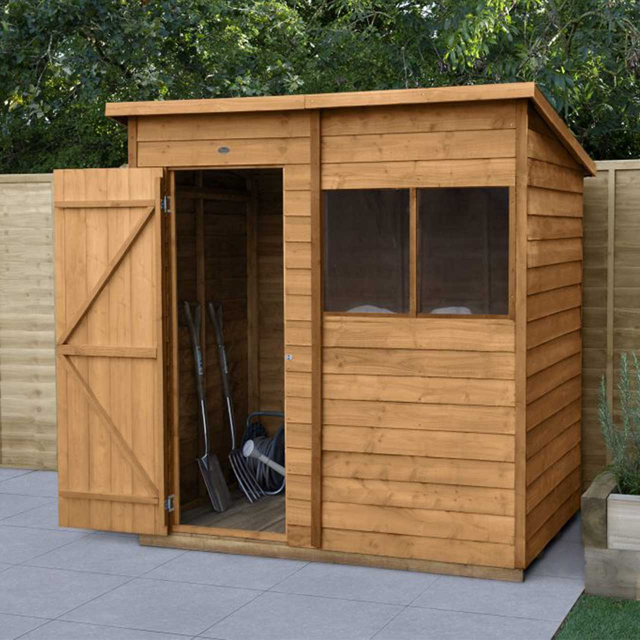 Overlap Dip Treated 6×4 Pent Shed
