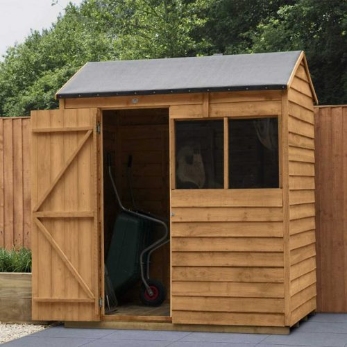 Overlap Dip Treated 6×4 Reverse Apex Shed
