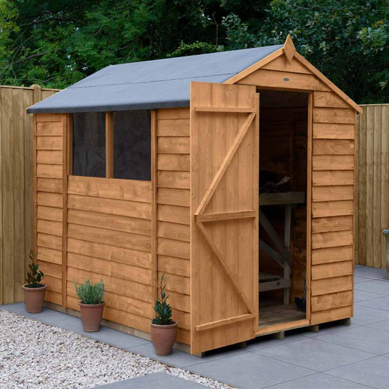 Overlap Dip Treated 7×5 Apex Shed