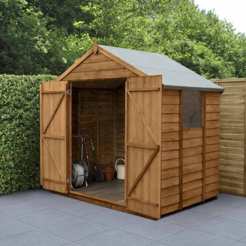 Overlap Dip Treated 7×5 Apex Shed – Double Door