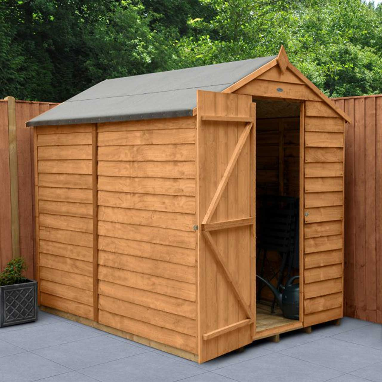 Overlap Dip Treated 7×5 Apex Shed – No Window