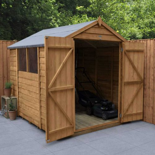 Overlap Dip Treated 8×6 Apex Shed – Double Door