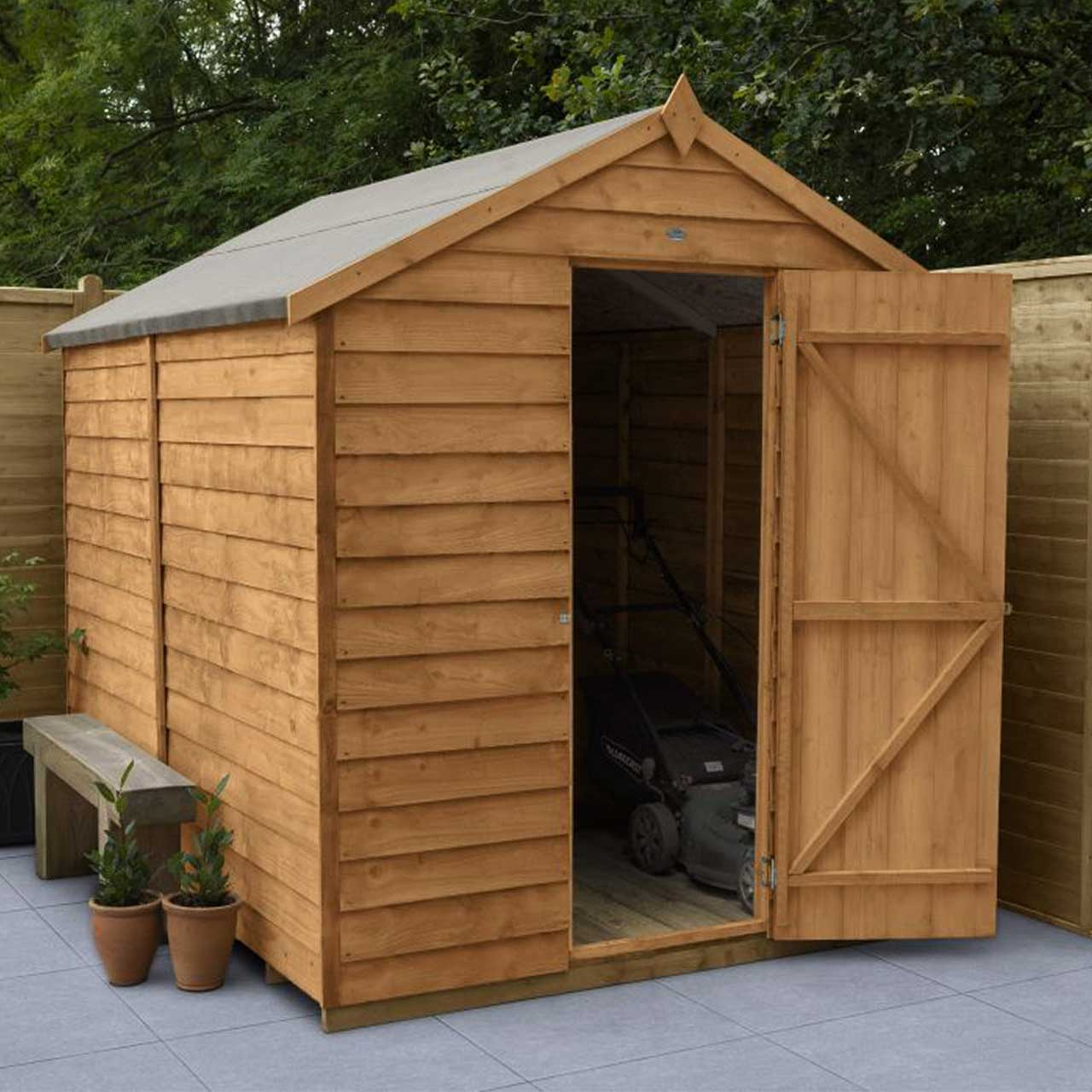 Overlap Dip Treated 8×6 Apex Shed – No Window