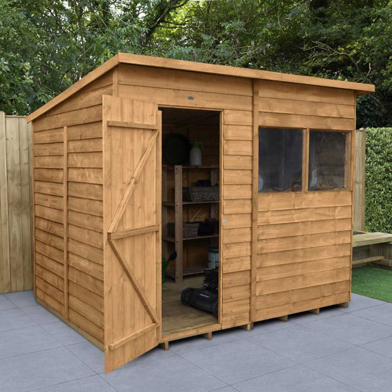 Overlap Dip Treated 8×6 Pent Shed