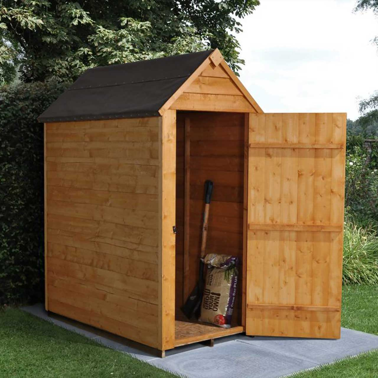 Overlap Dip Treated 3×5 Apex Shed – No Window