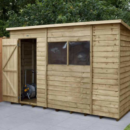 Overlap Pressure Treated 10×6 Pent Shed