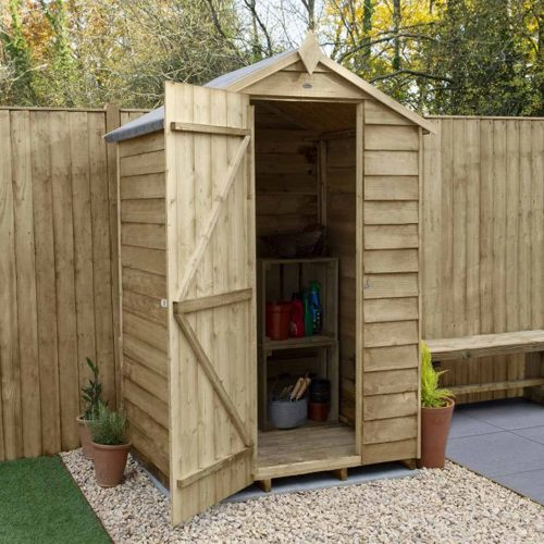 Overlap Pressure Treated 4×3 Apex Shed – No Window