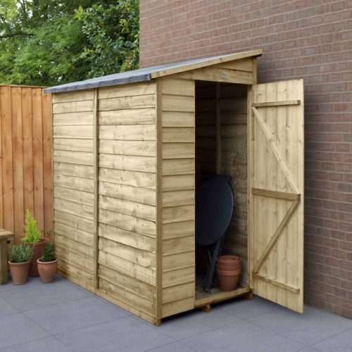 Overlap Pressure Treated 6×3 Pent Shed – No Window