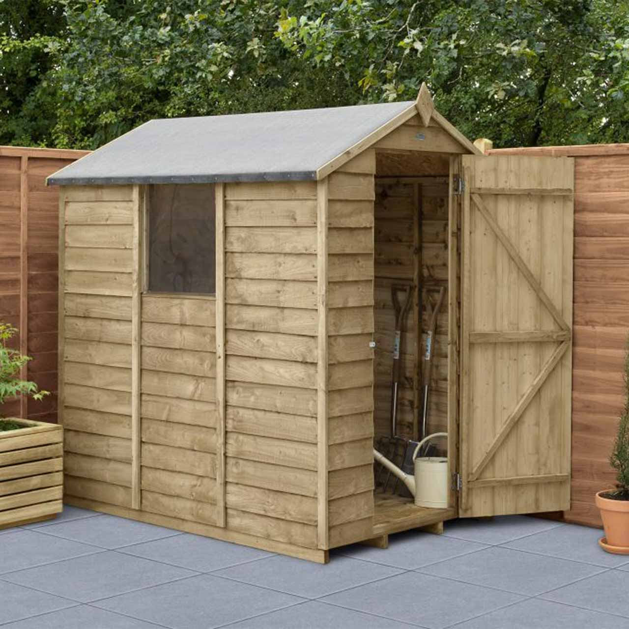 Overlap Pressure Treated 6×4 Apex Shed