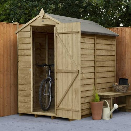Overlap Pressure Treated 6×4 Apex Shed – No Window