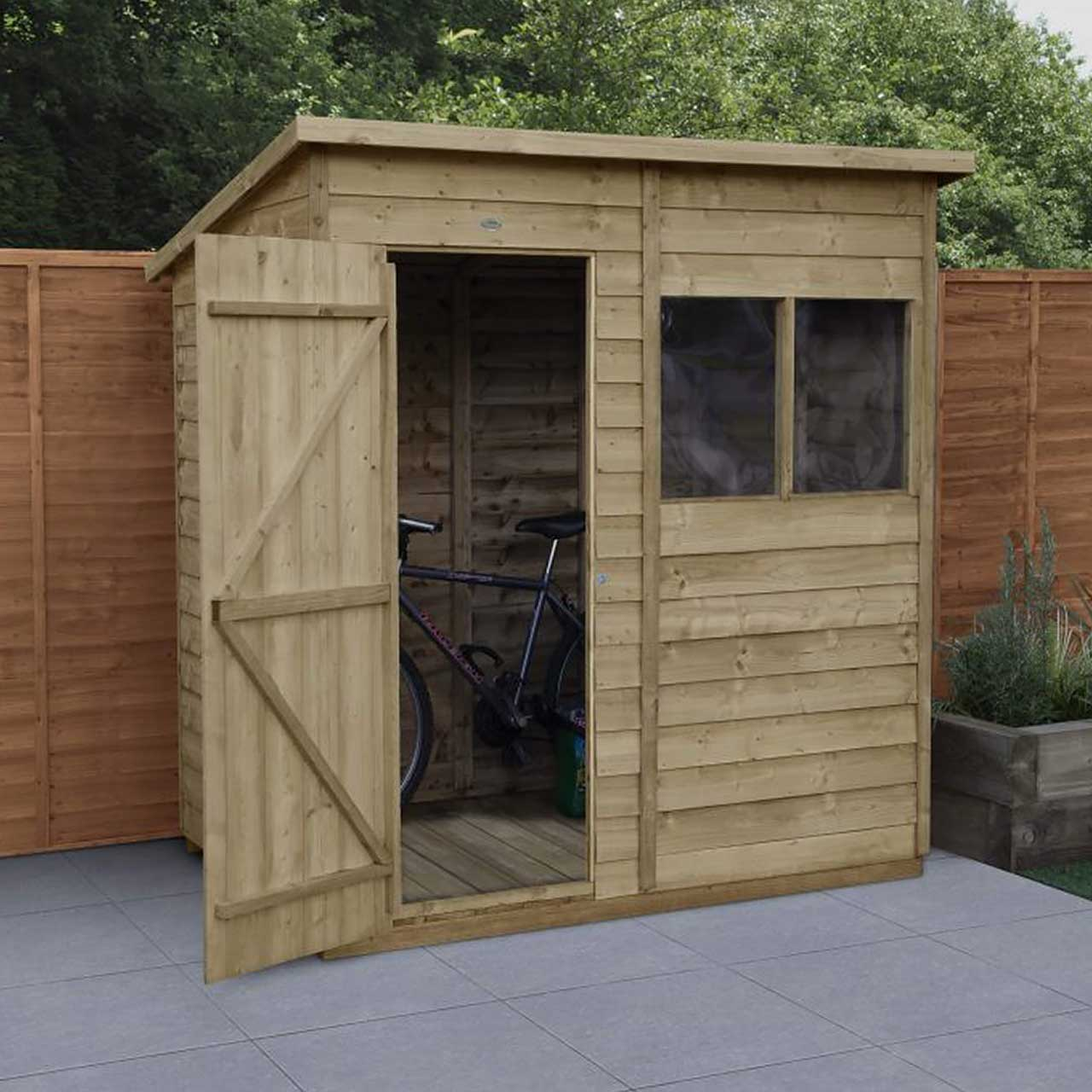 Overlap Pressure Treated 6×4 Pent Shed
