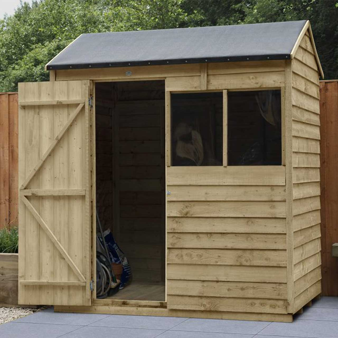 Overlap Pressure Treated 6×4 Reverse Apex Shed