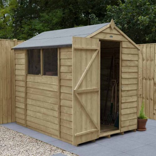 Overlap Pressure Treated 7×5 Apex Shed