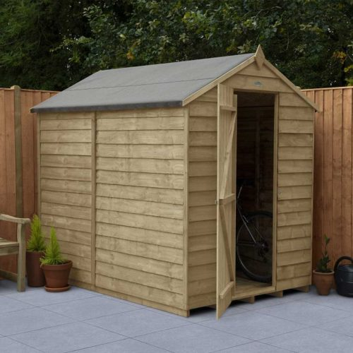 Overlap Pressure Treated 7×5 Apex Shed – No Window