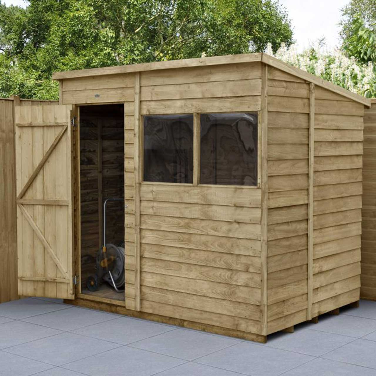 Overlap Pressure Treated 7×5 Pent Shed