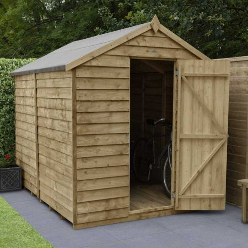 Overlap Pressure Treated 8×6 Apex Shed – No Window