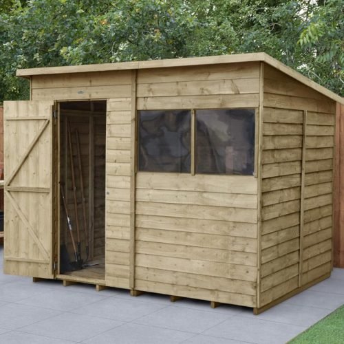 Overlap Pressure Treated 8×6 Pent Shed