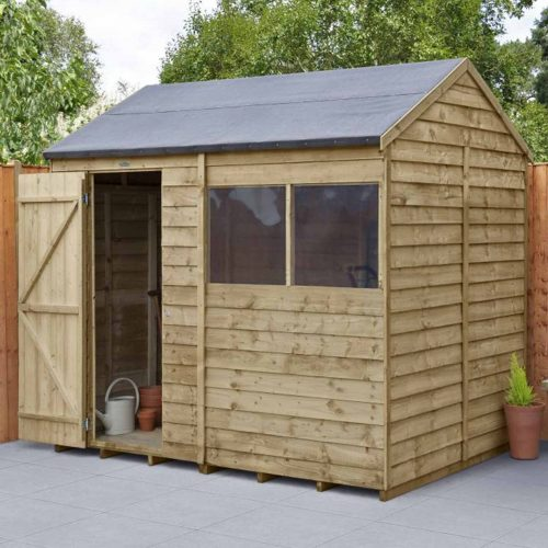 Overlap Pressure Treated 8×6 Reverse Apex Shed