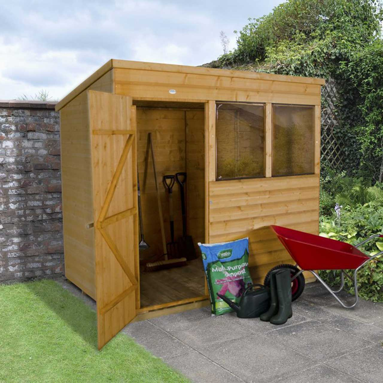 Shiplap Dip Treated 7×5 Pent Shed