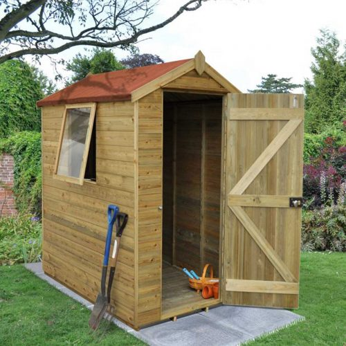 Tongue & Groove Pressure Treated 6×4 Apex Shed