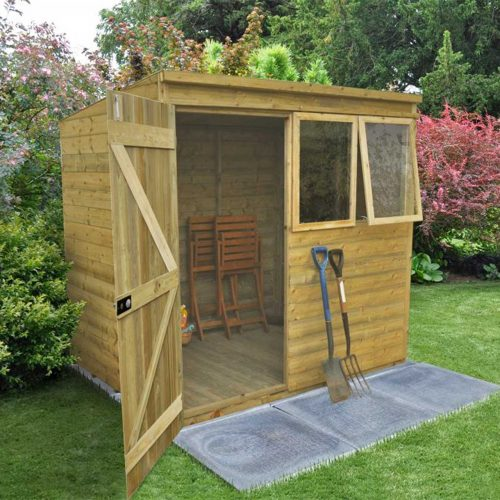 Tongue & Groove Pressure Treated 7×5 Pent Shed