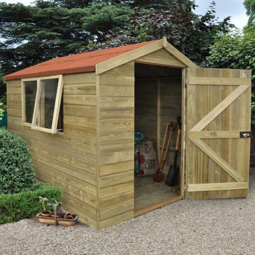 Tongue & Groove Pressure Treated 8×6 Apex Shed