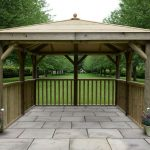 3.5m Premium Square Wooden Gazebo with Timber Roof – No Base – Installed