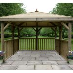 Premium Square Wooden Gazebo with Timber Roof