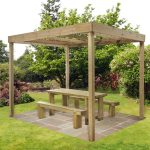 Dining Pergola Wooden Swinging Sit