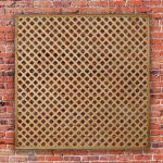 Rosemore Diamond Wooden Trellis Panel
