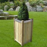 Slender Wooden Raised Square Planter