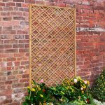Softwood Slatted Diamond Trellis Panel